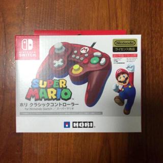 ニンテンドースイッチ(Nintendo Switch)の新品】スイッチ ホリ クラシックコントローラ マリオ (その他)