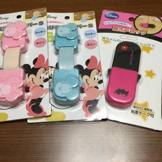 ディズニー(Disney)のディズニー  ミッキー ミニーのとびらストッパー 新品☆未使用 3こ(ドアロック)