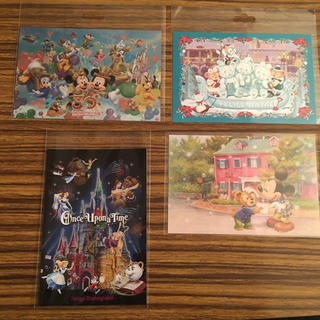 ディズニー(Disney)のディズニーポストカード3枚とおまけ(写真/ポストカード)