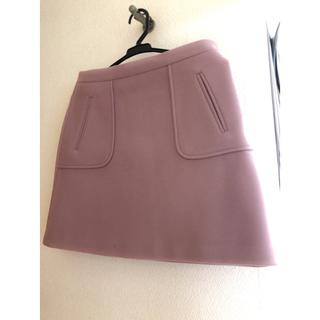 ディーホリック(dholic)のdholic ディーホリック 台形 ウール スカート Mサイズ(ミニスカート)