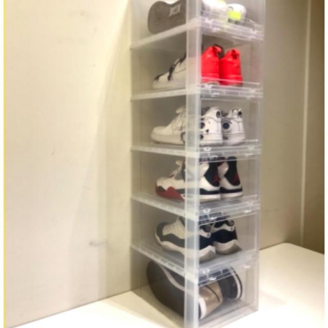 NIKE(ナイキ)の込 安 タワー ボックス Tower Box スニーカー 収納 ② インテリア/住まい/日用品の収納家具(玄関収納)の商品写真