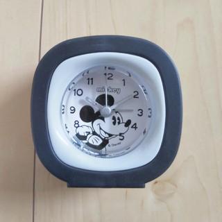ディズニー(Disney)のディズニー ミッキー 置き時計 アラーム ブラック 可愛い 新品 プレゼント(置時計)