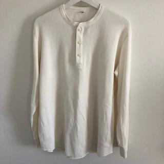 ユニクロ(UNIQLO)の専用 UNIQLO サーマル ヘンリーネック XL ホワイト(Tシャツ/カットソー(七分/長袖))