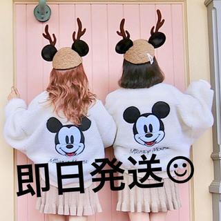 ディズニー(Disney)のミッキー ボアブルゾン  ボアジャケット(ブルゾン)