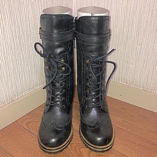 リー(Lee)のブーツ Lee 黒 新品 膝丈(ブーツ)