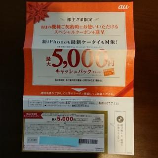 au 株主優待クーポン(ショッピング)