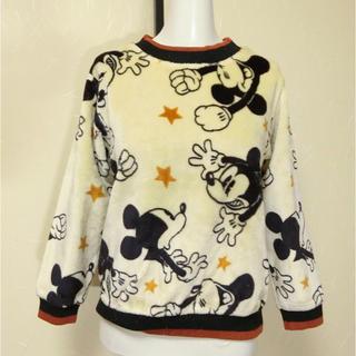 バツ(BA-TSU)のmini ba-tsu バツ フリースにミッキーマウス柄の長袖トレーナー140(Tシャツ/カットソー)