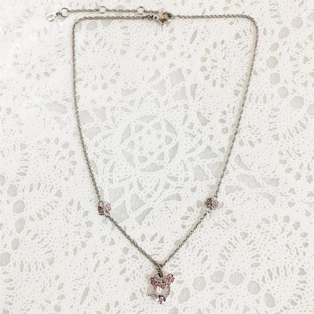 sale retailer 1a9f7 9c0cb 正規品 ディオール ネックレス シルバー ラインストーン 花 フラワー 銀 石