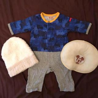 562d3ba12c6e6 ミキハウス(mikihouse)のミキハウス ロンパース ドーナツまくら 帽子 新生児服 おくるみ (ロンパース)