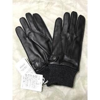 バーバリーブラックレーベル(BURBERRY BLACK LABEL)の新品 バーバリーブラックレーベル 羊革 手袋 スマホ対応 最終値下げ(手袋)