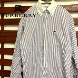 バーバリー(BURBERRY)のBurberry バーバリー ストライプシャツ ワンポイント(シャツ)