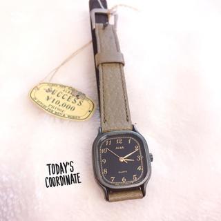 アルバ(ALBA)の【ALBA】カーキベルト腕時計✩︎新品稼働品(腕時計)
