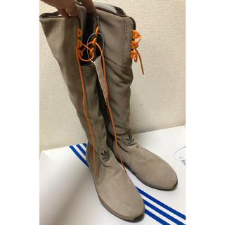 アディダス(adidas)のアディダス スウェードロングブーツ(ブーツ)