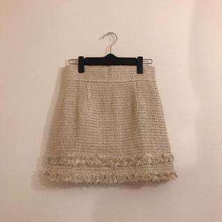 マーキュリーデュオ(MERCURYDUO)のMERCURYDUO ラメツイードスカート 美品(ミニスカート)