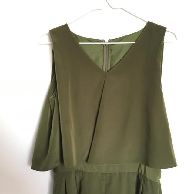 2fbc530b08651 AIMER - 再値下げ☆ 結婚式 エメ カーキ パンツドレスの通販 by HaNa s ...