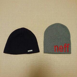 ネフ(Neff)の最終値下げ neffビーニー  2点セット ニット帽  スノーボード(ウエア/装備)