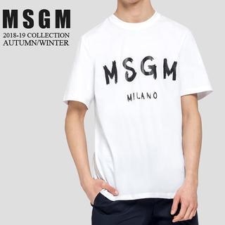 エムエスジイエム(MSGM)の【6】MSGM 18aw メンズ ホワイト 半袖 Tシャツ size XS(Tシャツ/カットソー(半袖/袖なし))