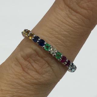 冬姫様専用♡K18 マルチカラー ダイヤモンド リング(リング(指輪))