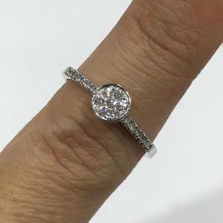 K14 ダイヤモンド リング 0.165ct(リング(指輪))