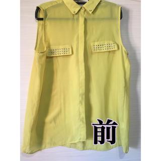 ジーユー(GU)のノースリーブ(シャツ/ブラウス(半袖/袖なし))