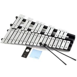 折り畳み式 卓上鉄琴 30音 マレット2本+収納ケース付き (鉄琴)