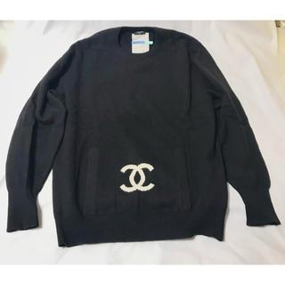 シャネル(CHANEL)の超美品★CHANEL レア物 ヴィンテージ デカ ココマーク セーター シャネル(ニット/セーター)