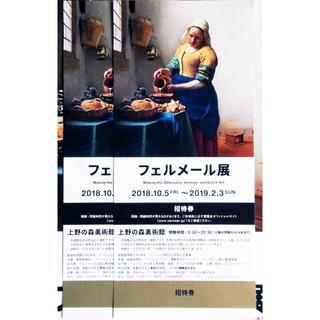 フェルメール展 入場日時指定無し 招待券 チケット 2枚ペア(美術館/博物館)
