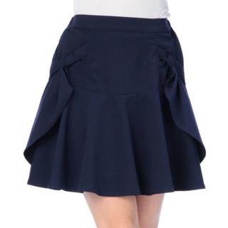リズリサ(LIZ LISA)のLIZ LISA☆新品♪Tralala*リボンポケット&ドレープフレアスカート(ひざ丈スカート)