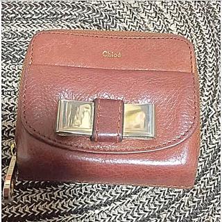 クロエ(Chloe)のクロエ折りたたみ財布 こげ茶(折り財布)