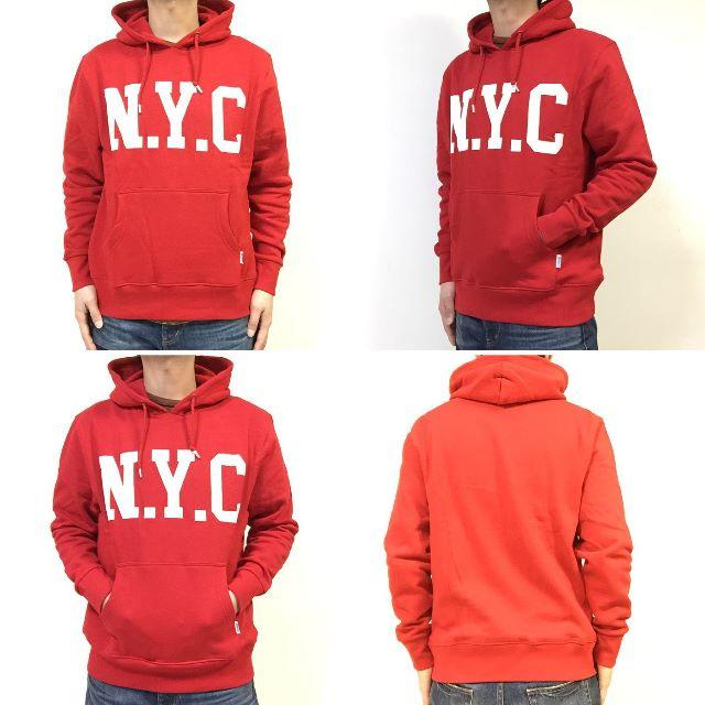 DISCUS(ディスカス)のSALE   送料無料 Mサイズ DISCUS ディスカス NYC パーカー 赤 メンズのトップス(パーカー)の商品写真