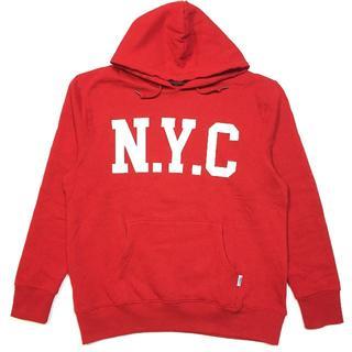 ディスカス(DISCUS)のSALE   送料無料 Mサイズ DISCUS ディスカス NYC パーカー 赤(パーカー)