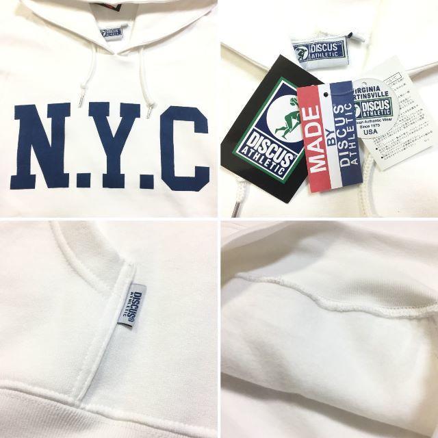 DISCUS(ディスカス)のSALE   送料無料 Lサイズ DISCUS ディスカス NYC パーカー 白 メンズのトップス(パーカー)の商品写真