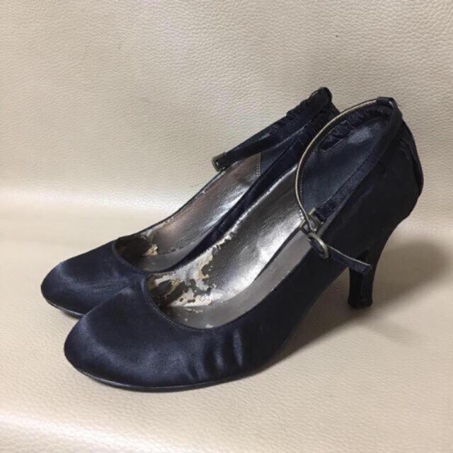 axes femme(アクシーズファム)のaxes femme パーティーパンプス アンクルストラップパンプス ブラック レディースの靴/シューズ(ハイヒール/パンプス)の商品写真