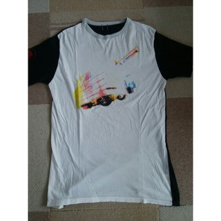 シャンティ(SHANTii)のSHANTii(シャンティ) ブラック&ホワイト切り返しTシャツ 表示サイズ:L(Tシャツ/カットソー(半袖/袖なし))