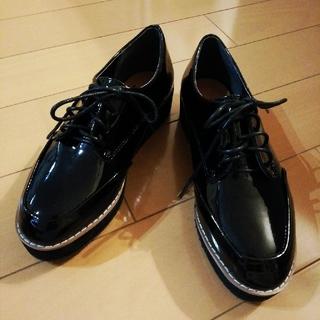 プラットフォームレースアップシューズ(ローファー/革靴)