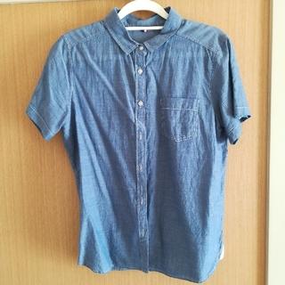 ジーユー(GU)のデニム 半袖シャツ GU(シャツ/ブラウス(半袖/袖なし))