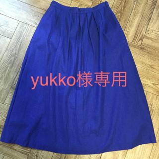 コルテラルゴ(CorteLargo)のブルー セットアップ セット(ひざ丈スカート)