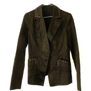 黒ジャケット しわ加工 フリーサイズ ユニセックス 秋冬用(その他)