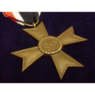 ドイツ軍*初期・1939年制定*戦功十字勲章2級*デシュラー社製(実物)(襟章)
