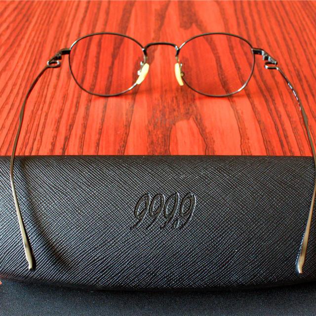 999.9・S-145T-17D チタン製・高級眼鏡 フレーム・ガンシルバー メンズのファッション小物(サングラス/メガネ)の商品写真