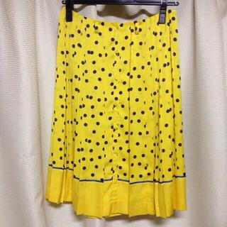 ルシェルブルー(LE CIEL BLEU)のルシェルブルー☆ドットプリーツスカート(ひざ丈スカート)