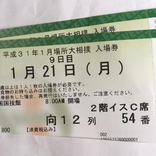 平成31年1月場所大相撲21日月曜日(相撲/武道)