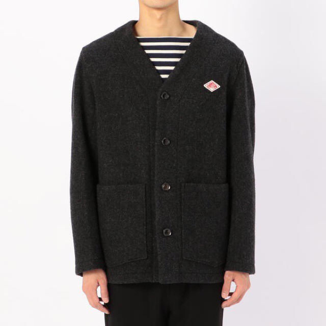 DANTON(ダントン)のDANTON ダントン ウールモッサ カラーレスジャケット メンズのジャケット/アウター(カバーオール)の商品写真