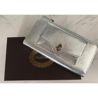 イエナスローブ(IENA SLOBE)のhashibami jean metallic long wallet シルバー(財布)