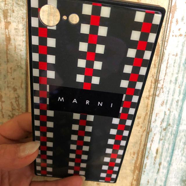 ディオール iphone7plus カバー シリコン | Marni - MARNIマルニ iPhone8 ケース チェック柄☆グリーン系/フラワーカフェの通販 by E∞H|マルニならラクマ