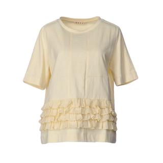 マルニ(Marni)のMARNI フリルTシャツ サイズ40 アイボリー(Tシャツ(半袖/袖なし))