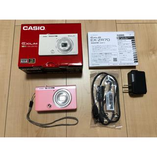 カシオ(CASIO)のCASIO*EXILIM EX-ZR70 ピンク*カメラ(コンパクトデジタルカメラ)