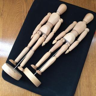 イケア(IKEA)の[美品]IKEA デッサン人形2体セット(その他)