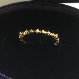 アガット(agete)の新品同様 アガット k18 YG ダイヤ リング 10号 ✨ 指輪 18金(リング(指輪))