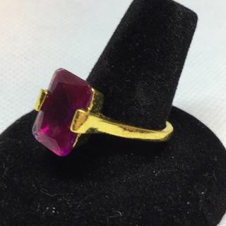パープルストーンのリング デザインリング(リング(指輪))